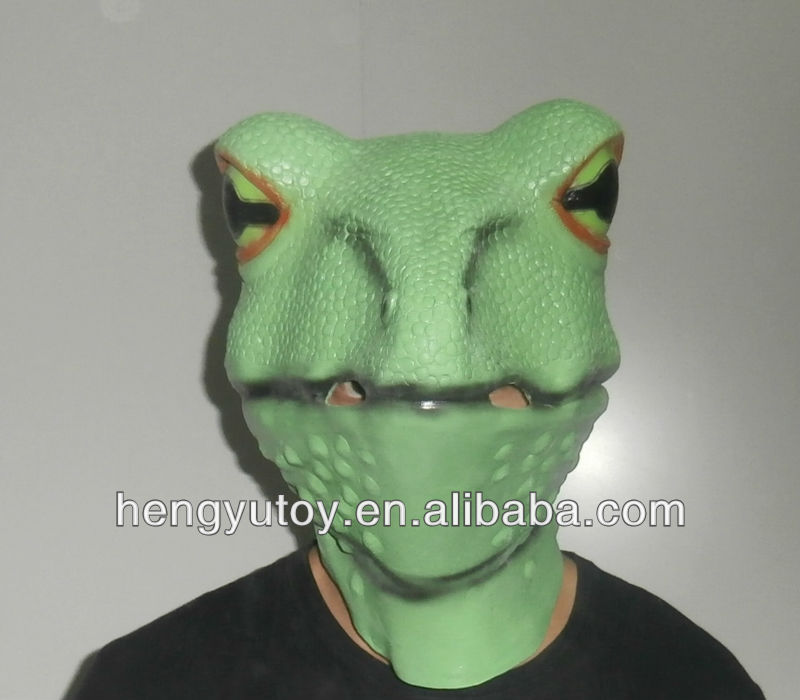 adult size realistic animal costume part pretty vivid rubber latex full head frog mask