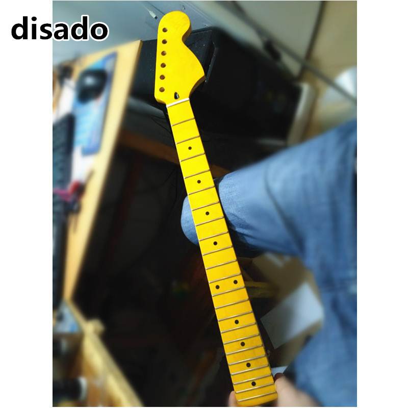 disado 22 Frets big headstock maple Electric Guitar Neck maple fretboard inlay dots glossy paint guitar parts accessories two way regulating lever acoustic classical electric guitar neck truss rod adjustment core guitar parts
