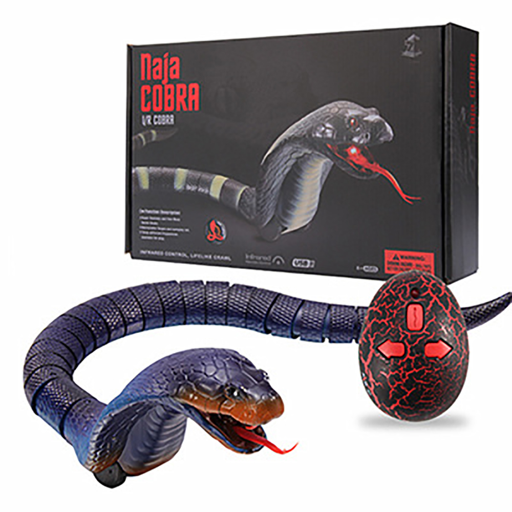Realistic Remote Control Naja Cobra RC Animals Snake Toy for Children High Simulation Cobra Interesting Egg Radio Control Toy(China)