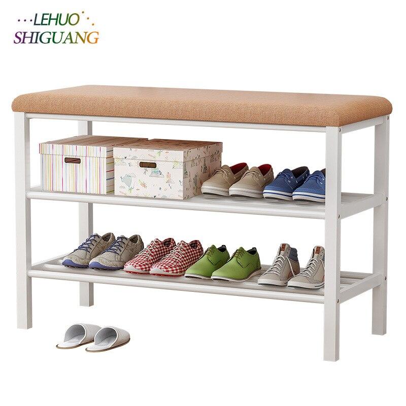 Multifunci/ón Estante del Zapato Soportes para Macetas para Interiores Tama/ño : 50cm Zapateros Zapatero De Madera De Bamb/ú De 3 Niveles