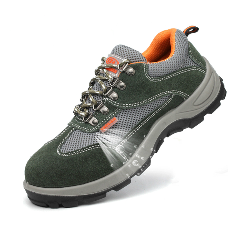 Latest Collection Of Mens Casual Big Size Breathable Mesh Steel Toe Caps Working Safety Shoes Plate Platform Security Tooling Boots Protect Footwear Men's Shoes Work & Safety Boots