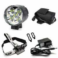 WasaFire Laterne 5 * T6 LED Fahrrad Licht Scheinwerfer 7000 Lumen LED Fahrrad Licht Lampe Scheinwerfer + 8,4 V Ladegerät + 9600 mAh Batterie Pack