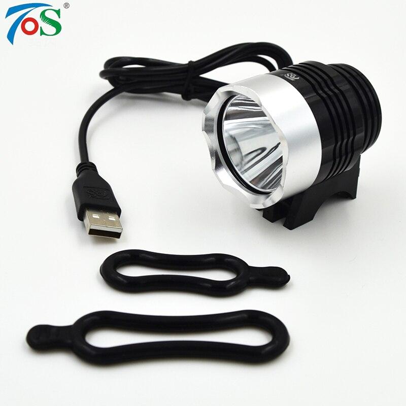 TOS New Super Bright T6 3 mód gomb USB Első kerékpár könnyű kerékpár tartozékok kerékpáros LED fényszóró kerékpár lámpa zseblámpa