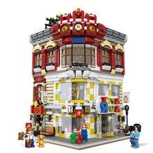 Подлинная креативная серия MOC City XingBao 01006 5491Pcs Игрушки и книжный магазин Set Children Building Blocks Bricks Toy Model Gift