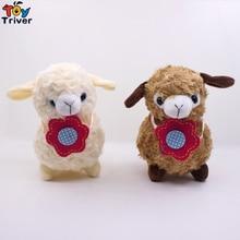 18cm Plush Alpaca Toy Stuffed Cartoon Alpacas Sheep Lamb Dolls Baby Kids Children Kawaii Birthday Gift Home Shop Decor Triver