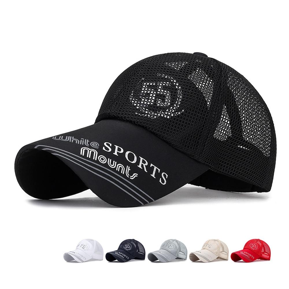 Unisex Summer   Baseball     Cap   Sports Outdoor   Caps   High Quality Casual Letters Print Mesh Sun Hats   Baseball     Caps   Snapback Adjustable