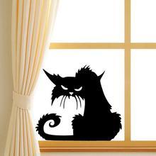 3d wall stickers halloween black cats decor decals for walls decal wall murals - Halloween Wall Mural