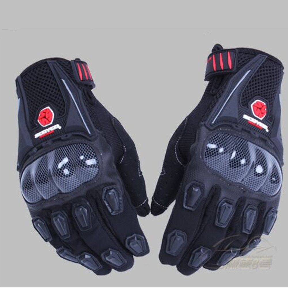 Brand Motorcycle Glove Carbon Fiber Full Finger luva motos guantes Motorcycle Protective Gears Motocross Off road