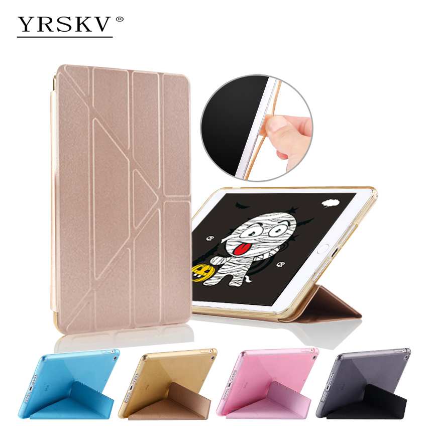 Case for iPad Pro 9.7 inch (2016) YRSKV Multi-fold PU leather cover + TPU Smart Sleep Wake Tablet Case For Apple iPad for apple ipad pro 10 5 case 2017 new pu leather slim smart cover w pencil holder wake sleep function for ipad pro 10 5 case