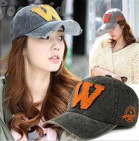 Cotton Cap Letter W Baseball Cap Snapback Caps Bone Casquette Hat Distressed Wearing Fitted Hat For