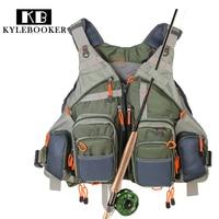 New men's Adjustable Fly Fishing Vest outdoor hunting Packs bag Fishing Mesh Vest Fishing Tackle bag Jacket clothes