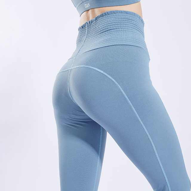 FeelKe New fashion style plus size Women high waist sport leggings