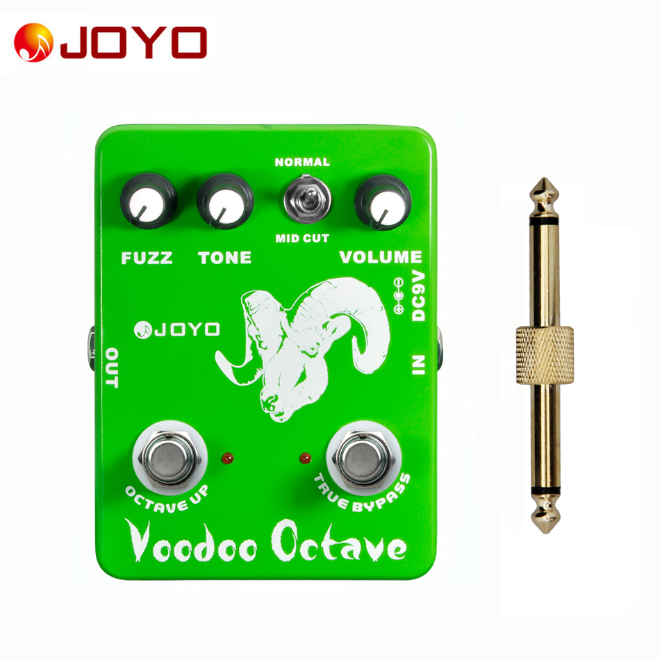 JOYO JF 12 Guitar Effect Pedal Voodoo Octave Fuzz Effect electric bass dynamic compression effects 1