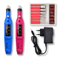 1set 6bits Power Nail Art Drill Professional Electric Manicure Machine Nail Drill Pen Pedicure