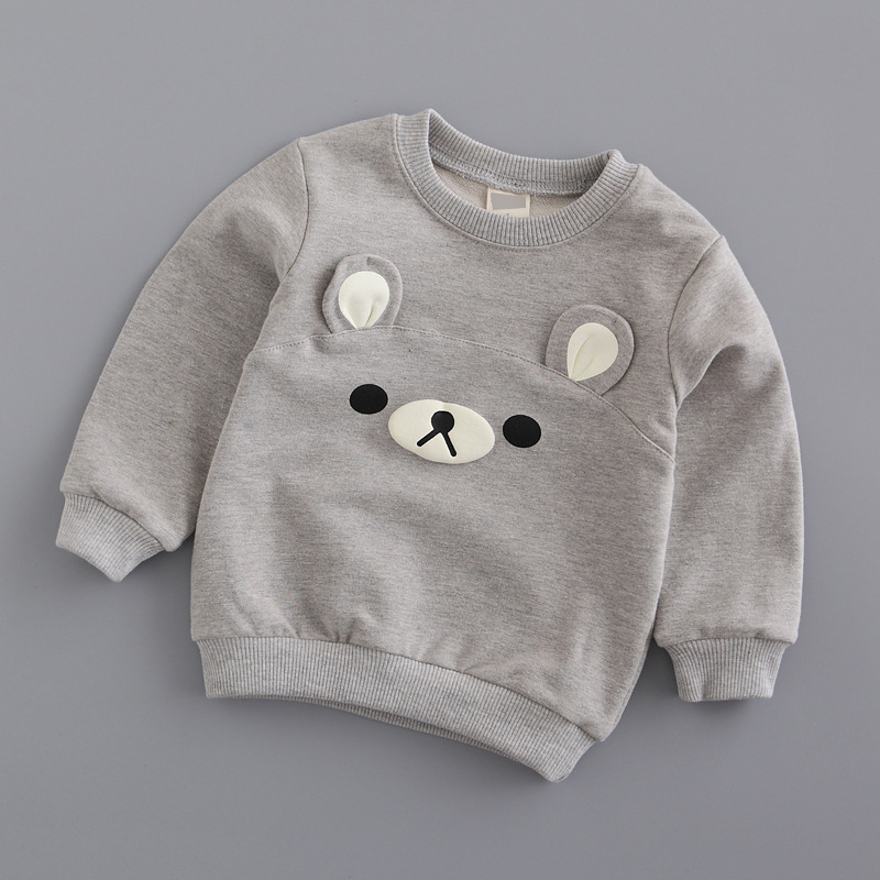 Girls clothes 2016 jchao kids Spring Autumn baby Boys sweatshirts long sleeve T-Shirts Terry kids sweaters child tops 90-140CM