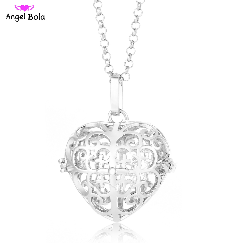Engelsrufer Accessories Angel Ball Baby Necklaces 24mm Heart Cage Jewelry Sound Bola Puerpera Pendants Women Gift Pryme L110