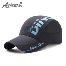 [AETRENDS] Summer Baseball Cap Men Women Trucker Caps Quick Dry Mesh Hats Outdoor Travel Sport Bone Casquette Gorras Z-6882