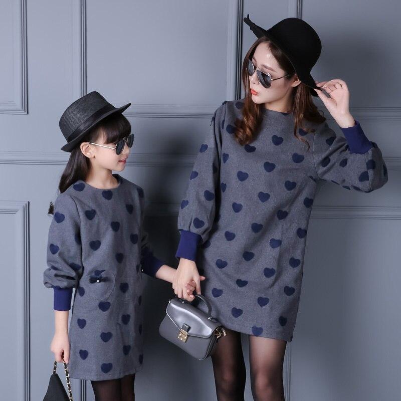 2016 Cotton Mother Daughter font b Dress b font Fashion Solid font b Dresses b font