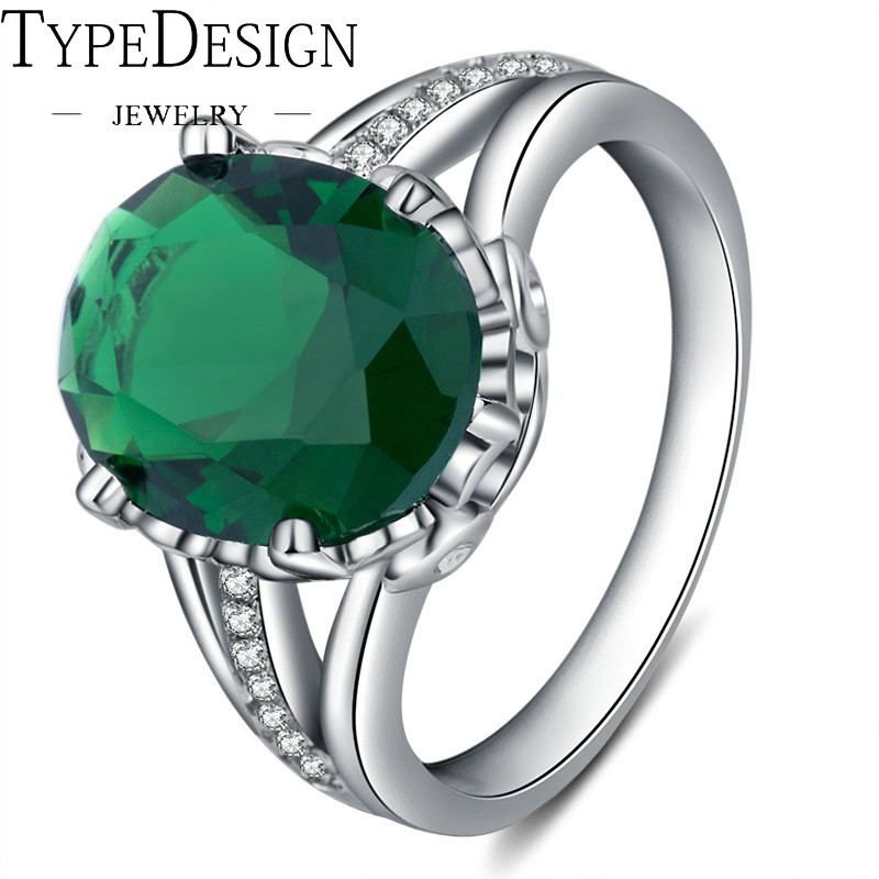 Gem JewelryPalace Pear 4ct Green Created Emerald Engagement Wedding Ring 925 Anillos Silver Luxury Birthday/Party/Dance Ring