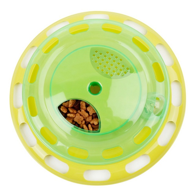 Pet Cat Toys Can Be Disassembled Flying Saucer Fun Food Rotation Disk Puzzle Cats Catching Bell Balls