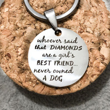 Round Shape Dog Tag Keychains Engraved Girls Best Friend Never Owned A Dog Key Holders Gift For Pet Lovers Gift VIP Dropshiping цена