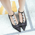Spring sexy ankle strap heels Women's shoes on a low heel Thick heels fashion silk satin pointed toe high heels zapatos mujer