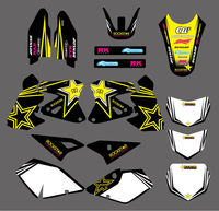 0006 Star New Style TEAM GRAPHICS & BACKGROUNDS DECALS Stickers FOR Suzuki DRZ400 DR Z400 2000 2012 DRZ DR Z 400