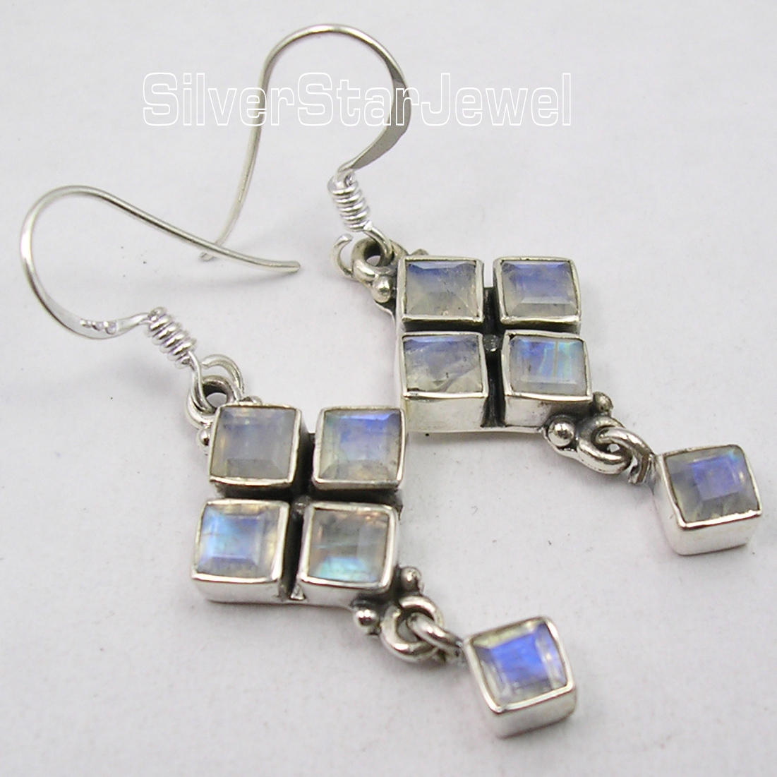 Silver MOONSTONE LOVELY SQUARES Earrings Pair 4.4CM betsis a mamas l the grammar files english usage intermediate level b1 student s book