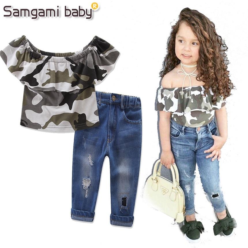 samgami baby girls clothing sets 2018 new summer kids