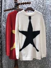 2017 Wool Pullover Sweater Pull Poncho Spring New Women's Street Corner Of The Color Of Five Corners Of Stars Casual Knitting