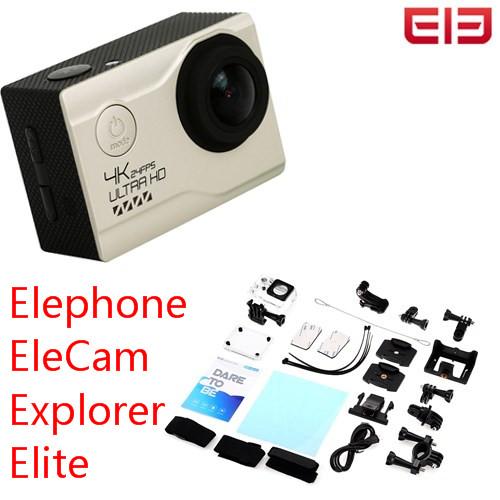 Prix pour D'origine Elephone EleCam Explorer Elite 4 K WiFi Action Sport Caméra 170 Degrés FOV 2.0 pouce Écran lcd Étanche D'action caméra