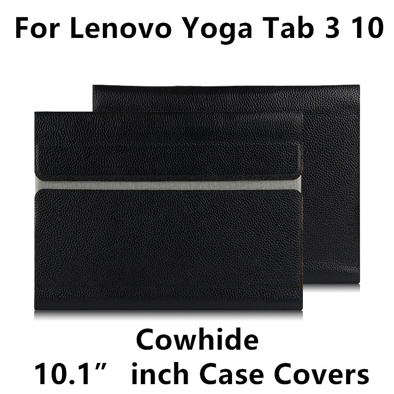 Cowhide For Lenovo YOGA Tab 3 10 X50F X50M Case Cover Protector YOGA Tab310 YT3-X50L Tablet-X50M 10.1 tablet pc Genuine Leather ultra thin smart flip pu leather cover for lenovo tab 2 a10 30 70f x30f x30m 10 1 tablet case screen protector stylus pen