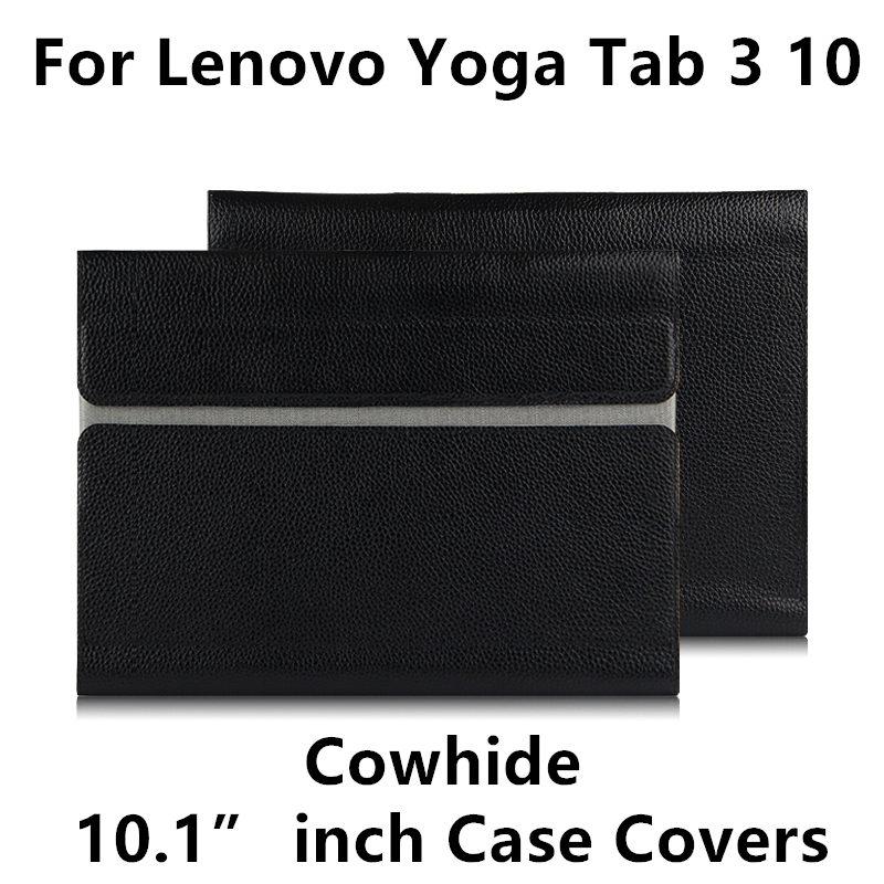 Pelle di vacchetta per Lenovo YOGA Tab 3 10 X50F X50M Custodia - Accessori per tablet