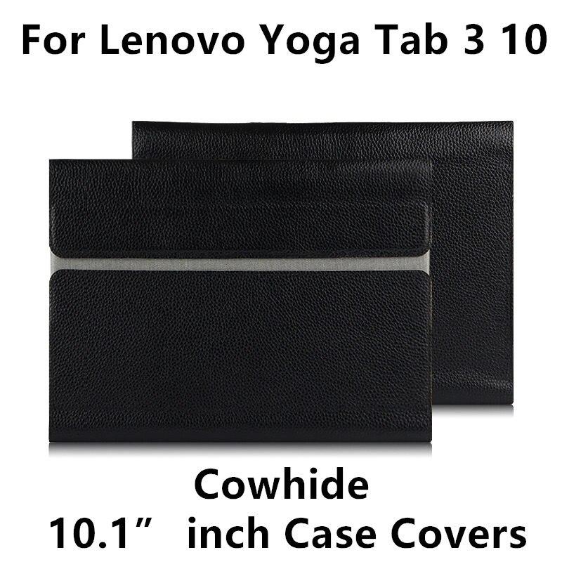 Peau de vache Pour Lenovo YOGA Tab 3 10 X50F X50M Cas couverture Protecteur DE YOGA Tab310 YT3-X50L Tablet-X50M 10.1 tablet pc Véritable en cuir