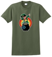 Funny Graphic Tees O-Neck  Leprechaun Men Short Sleeve New Style Tee Shirt