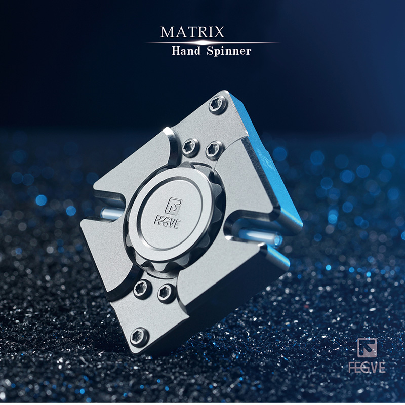 FEGVE Fidget Spinner Stainless Steel MATRIX Hand Spinner For Kids Autism ADHD Anxiety Stress Relief Focus Handspinner Toys Gift new rainbow finger fidget spinner fun hand spinner desk focus toy anti stress spiner metal edc adhd autism tri spinner toy