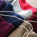 Envío libre 100% de la cachemira suéter de punto otoño e invierno de las señoras de cuello redondo que basa la camisa cabeza de la mujer suéter caliente