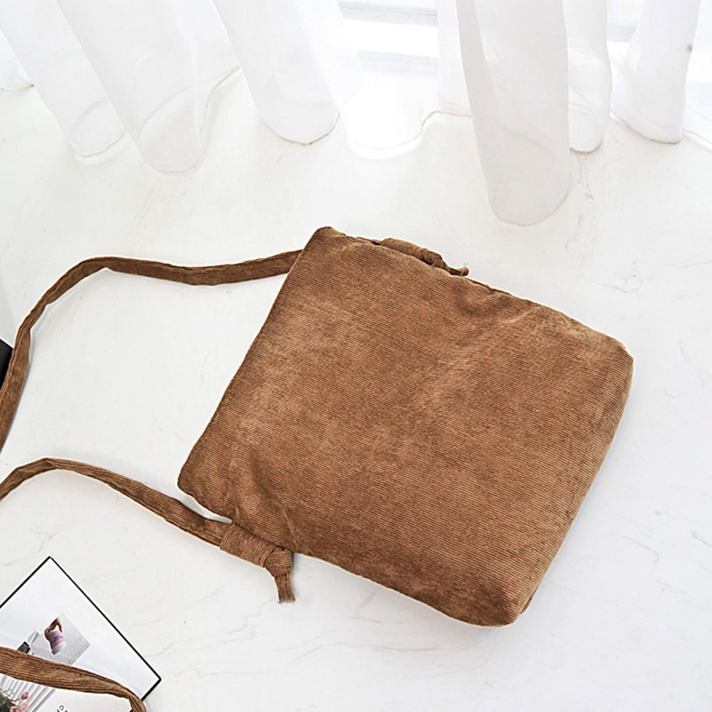 Lady Canvas Handbag Mini Single Shoulder Bag Vintage Crossbody Messenger Bags For Girls Bucket Bag