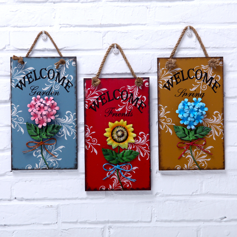 Wedding gift ideas listed American Iron decorative flower garden European-style wooden sign listing numbers