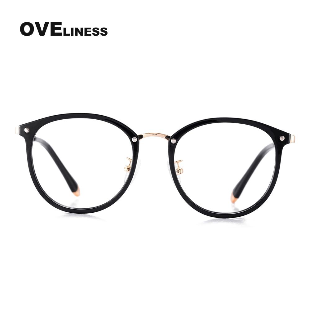 Transparente Linse Big Brillen rahmen TR90 Metall Brillen Vintage ...