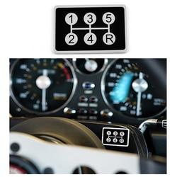 Etiqueta do carro 5 velocidade do deslocamento de engrenagem emblema do deslocamento de engrenagem botão painel adesivo para peugeot 106 107 205 206 306 406 307 308