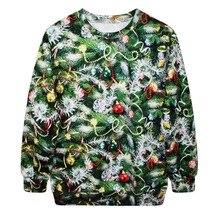 Funny Best Women's Christmas Cute Green Trees Printed Sweatshirt Pullover Xmas