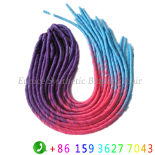 Colorful Ombre Hair LOCS Curly Crochet Braiding Hair Extensions Synthetic African Ombre Dreadlock Weave Beauty Fake Hair Braids