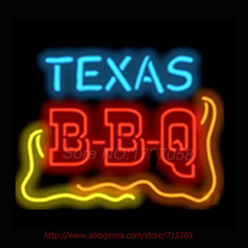 texas bbq catering neon signs handcrafted wall sign recreation room neon bulbs real glass tube beer