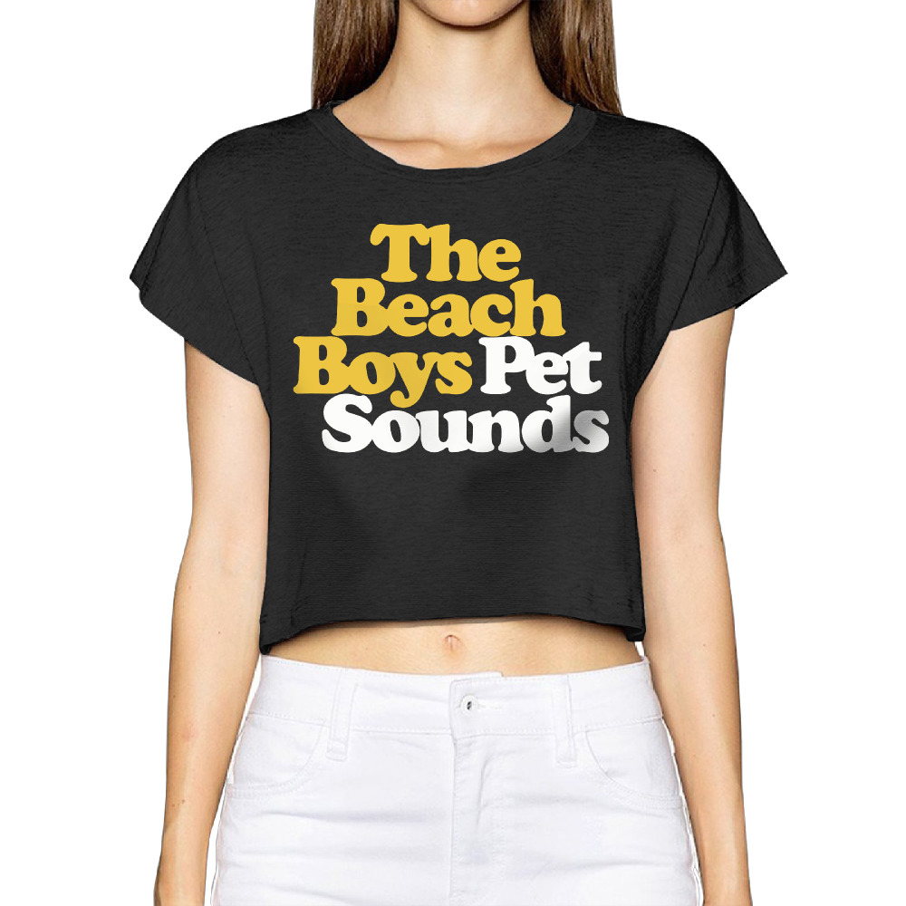2017 The Beach Boys Pet Sounds Women New 3D Print Summer Fashion Crop Tops Street t shirt Bare Midriff Sexy T-Shirt