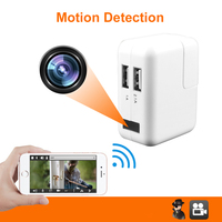 Newest Portable HD 1080P WIFI Camera MINI Recorder Motion Detection USB Wall Charger For Indoor Bedroom