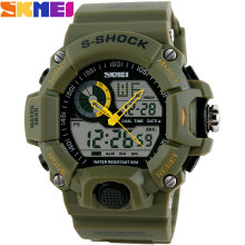 S SHOCK 2016 New SKMEI Luxury Brand  Men Military Sports Watches Digital LED Quartz Wristwatches rubber strap relogio masculino
