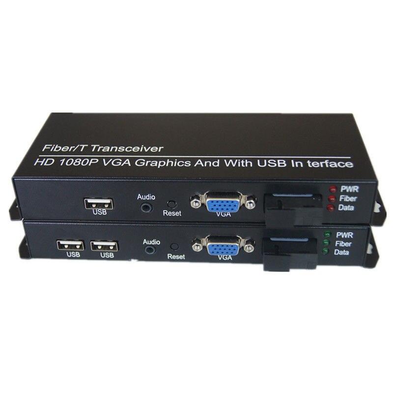 Jyttek extensor VGA KVM VGA de fibra convertidor de Audio de 3,5mm SC 20Km Interruptor de fibra óptica 4 1,25G SC 2 1000M RJ45, interruptor Gigabit Ethernet de Grado Industrial, modo único de fibra PCB