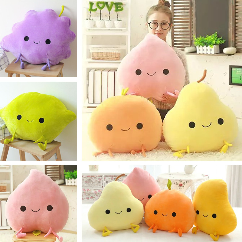 Candice guo! Super cute plush toy cartoon fruit peach orange pear Mango lemon grape stuffed doll cushion birthday gift 1pc candice guo plush toy stuffed doll cartoon animal little sheep cute lamb soft pillow cushion birthday gift christmas present 1pc
