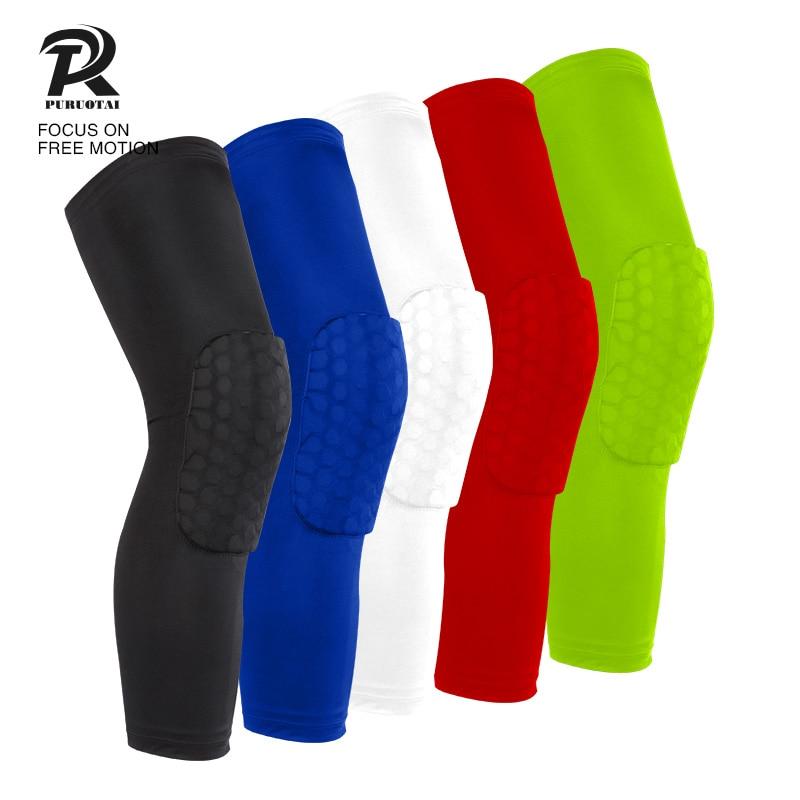 Honeycomb Padded Knee Brace Sports Safety Basketball Kneepad Compression Knee Sleeve Protector Knee Pads